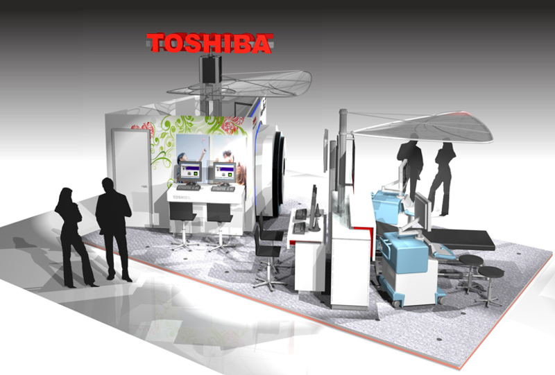 Gix Toshiba stand design exhibition medical