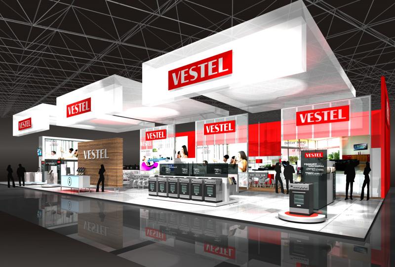 Gix Vestel exhibition design standdesign messebau