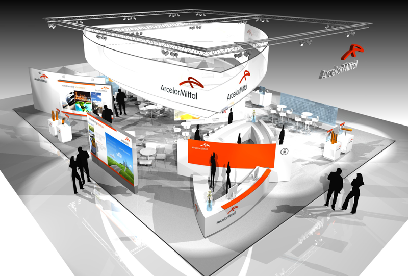 Gix Arcelor Mittal exhibition design standdesign messebau