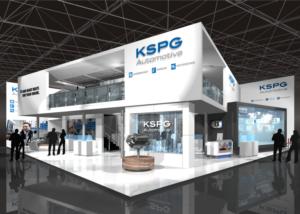Gix KSPG automotive design stand exhibition