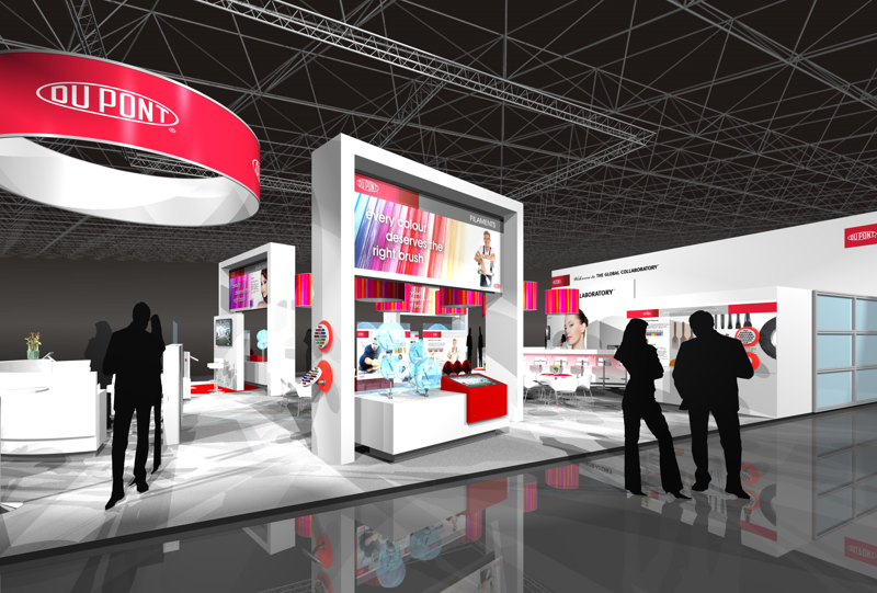 Gix DuPont exhibtion design interbrush standdesign