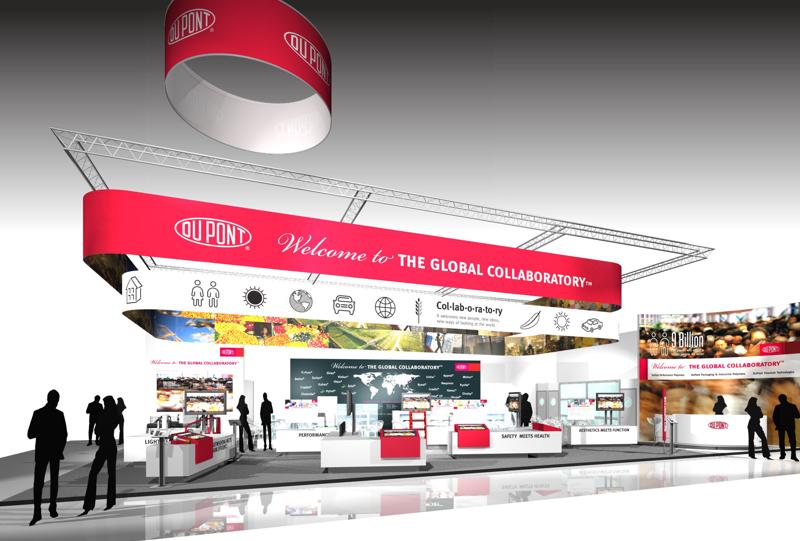 Gix DuPont exhibtion design K-2013 standdesign