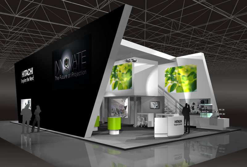 Gix Hitachi exhibiton stand design messebau