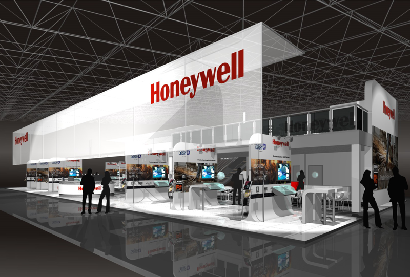 Gix honeywell design exhibition standdesign messebau