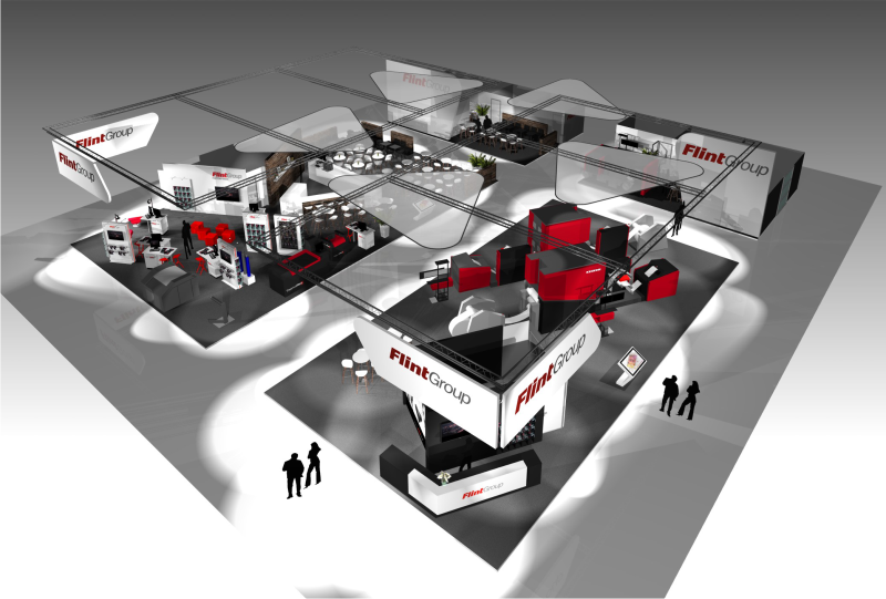 GIX FlintGroup Xeikon Labelexpo exhibiton design